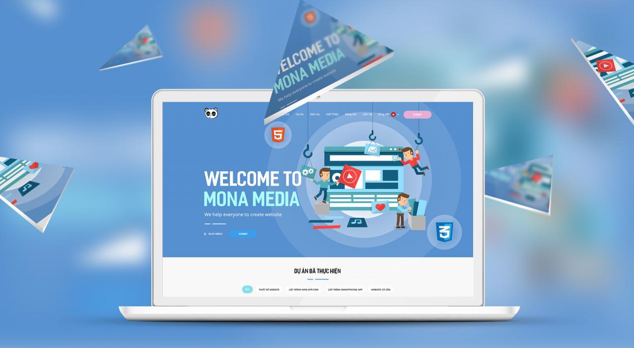 Công ty thiết kế website uy tín tại TpHCM Mona Media